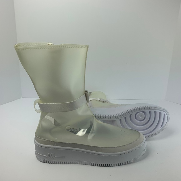 hot sale online be3fd 3e483 Nike Womens AF1 Sage HI LX Boot Clear NEW!!